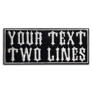 Your text, 2 lines patch