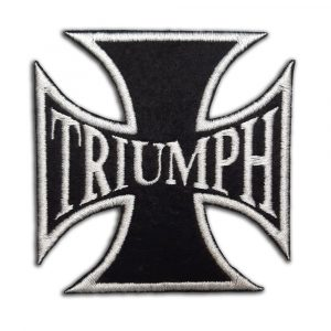 Triumph, biker cross patch