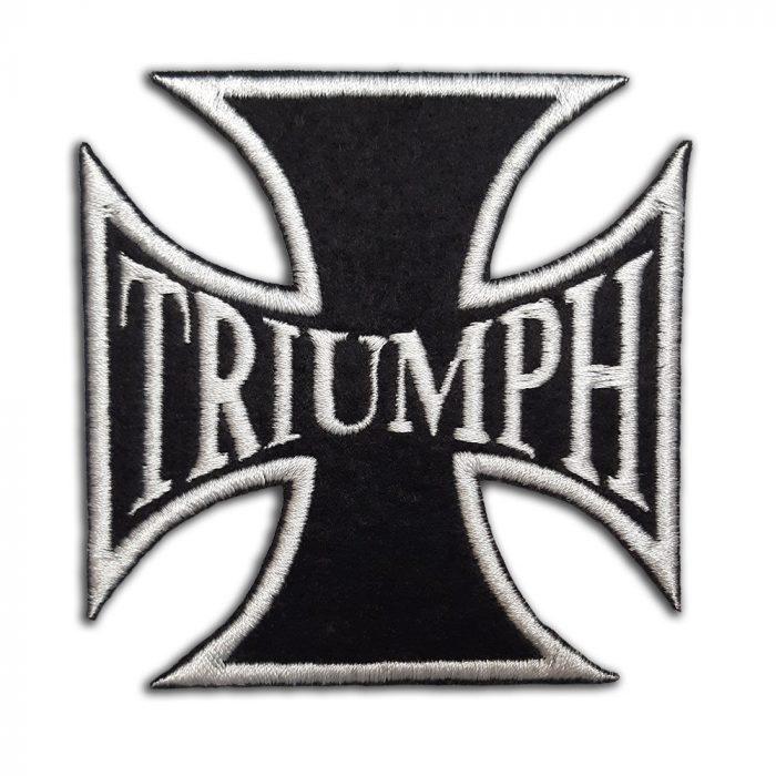 Triumph, biker cross patch
