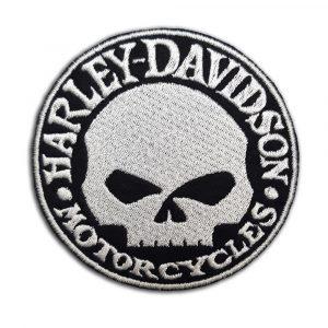 Harley-Davidson, skull patch