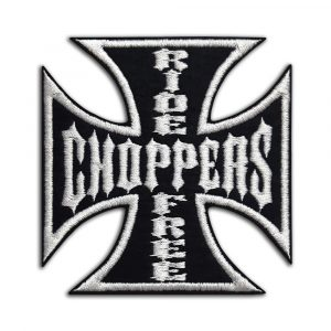 Choppers Ride Free, cross patch