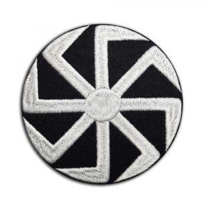 Kolovrat Slavic symbol patch