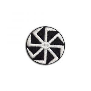 Kolovrat Slavic symbol small patch