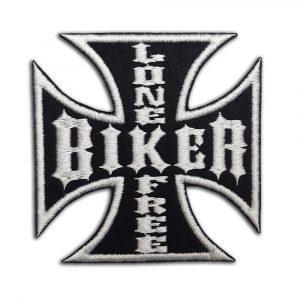 Lone Free Biker, biker cross patch