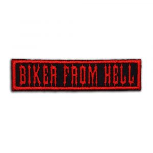 Biker from hell patch