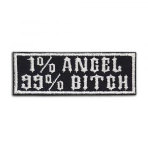 1% Angel 99% Bitch patch