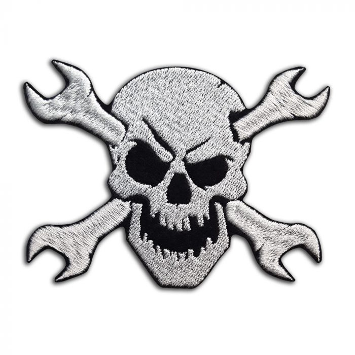 Skull with spanners patch