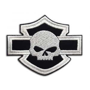 Harley-Davidson logo with skull patch