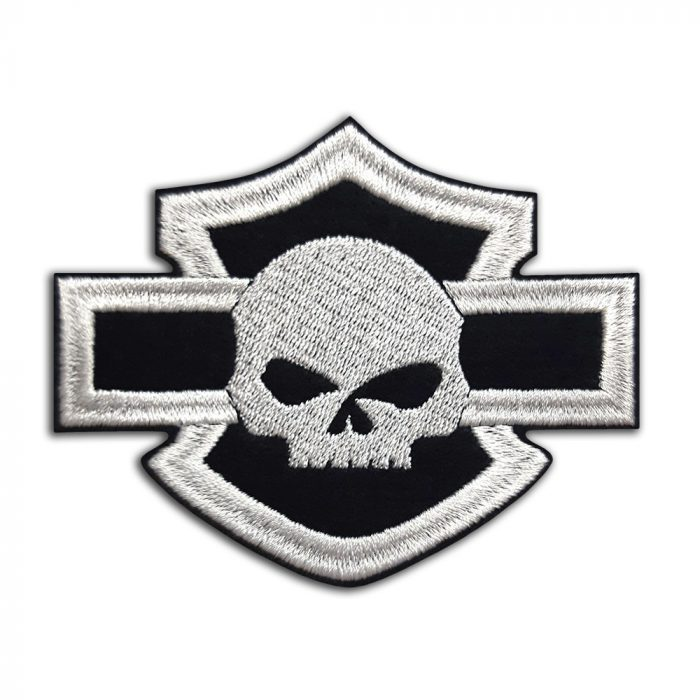 Harley-Davidson logo with skull patch