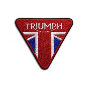 Triumph motorcycle logo red patch