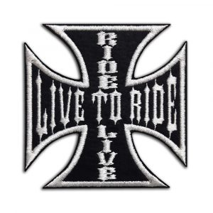 Live to ride Ride to live, biker cross patch
