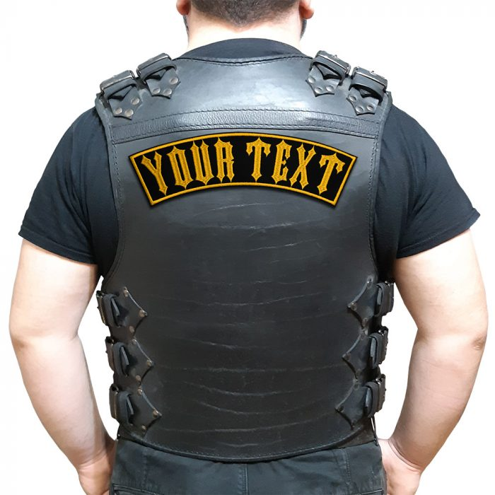 Your text, top or bottom only large back patch
