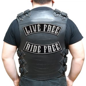 Live Free Ride Free large back patch