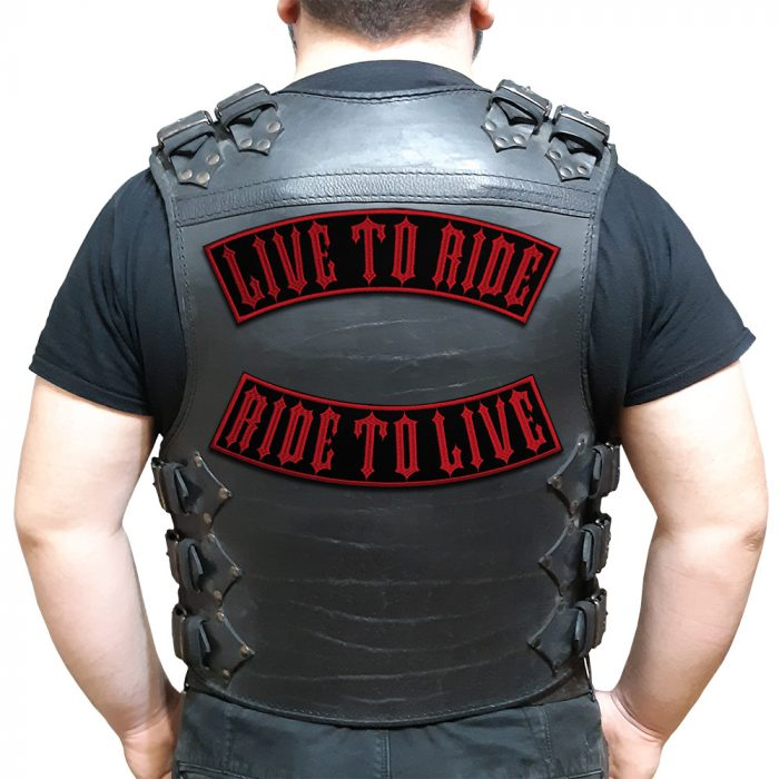 Live To Ride Ride To Live large back patch