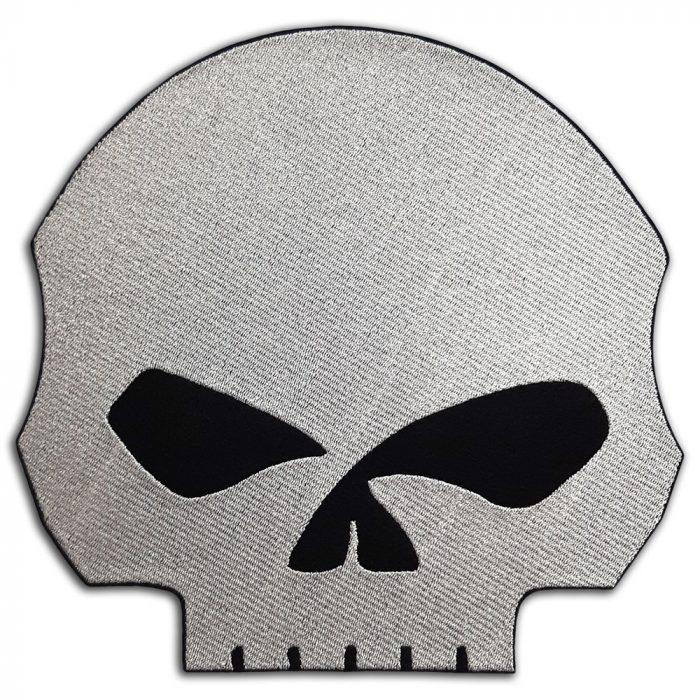 Harley-Davidson skull large back patch