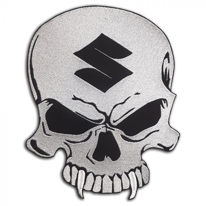 Suzuki skull large back patch