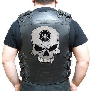 Yamaha skull large back patch