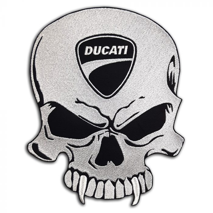 Ducati Skull large back patch