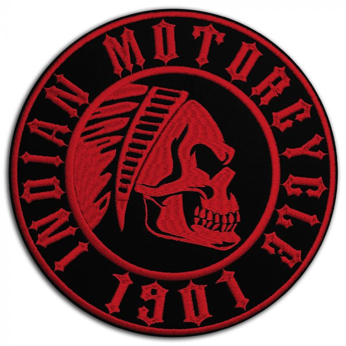 Indian motorcycle skull large back patch