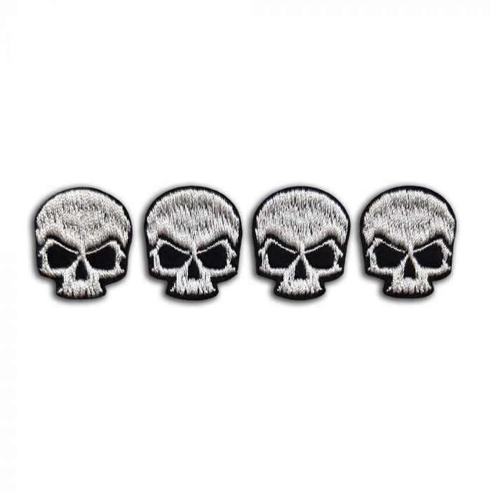 Set of 4 small skulls patch