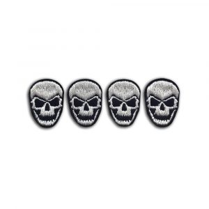 Set of 4 small skulls patchess
