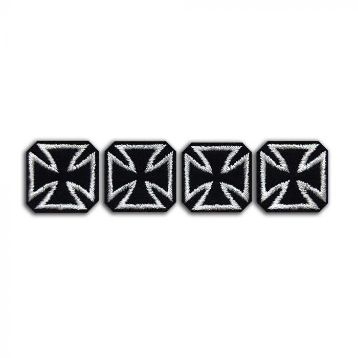 Set of 4 small biker crosses patch